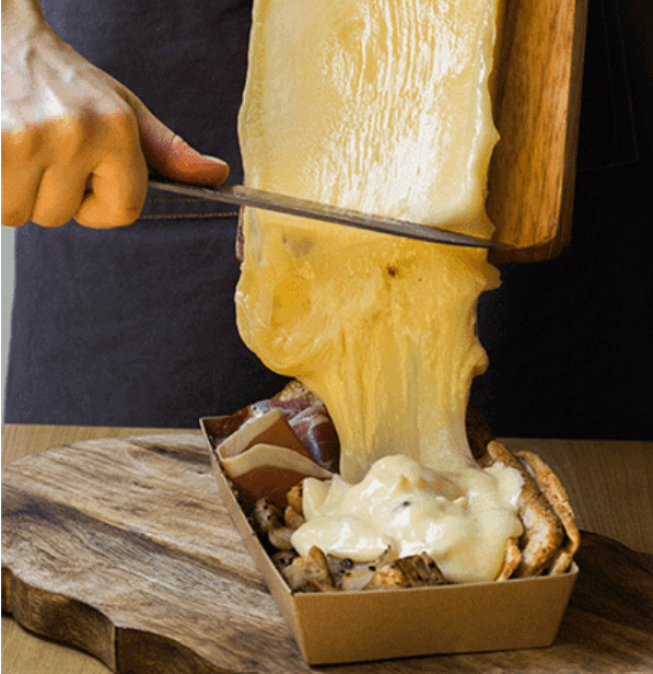 tasty french dish raclette
