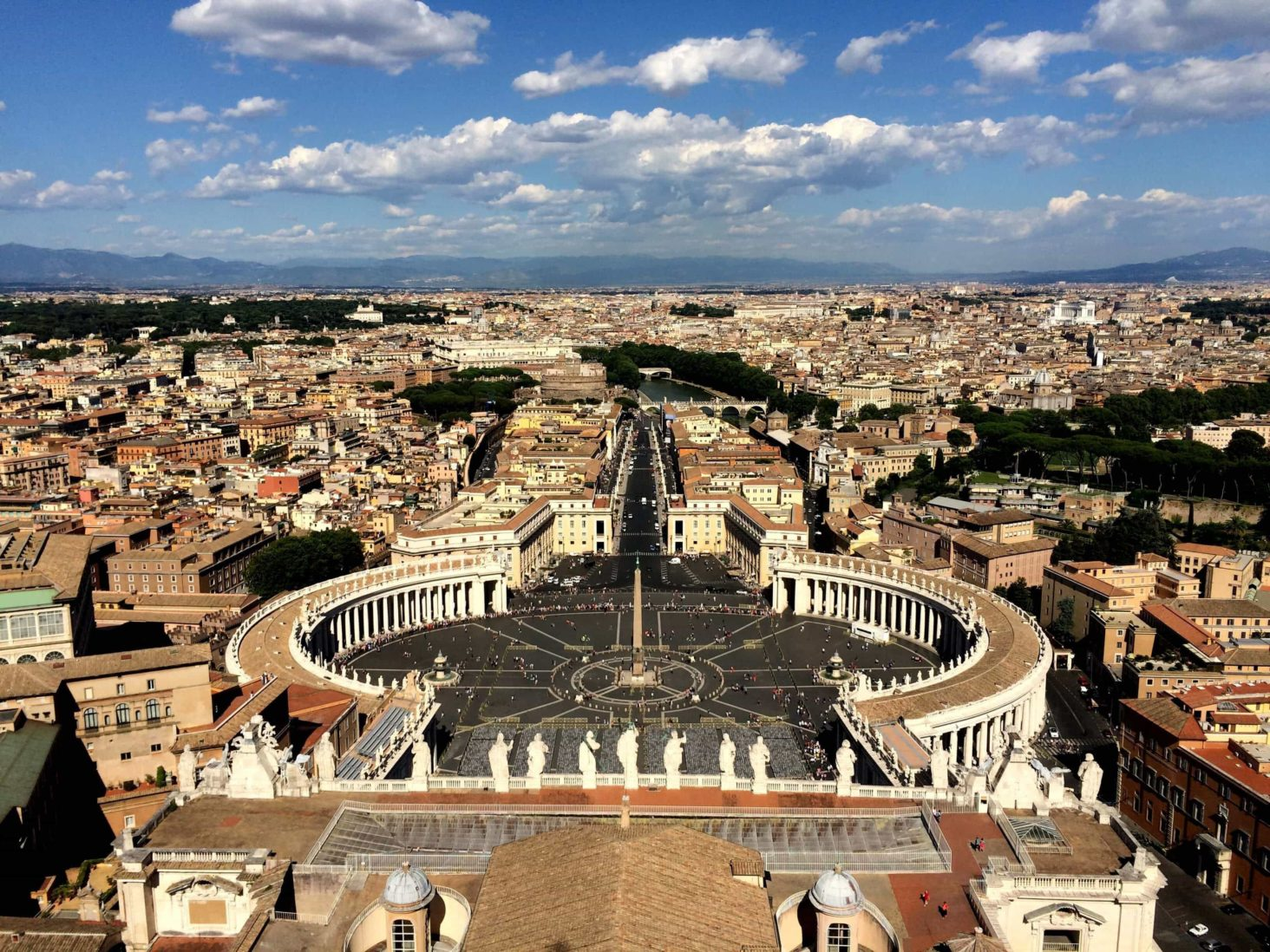 Rome aerial view. popular destination of the walking holiday