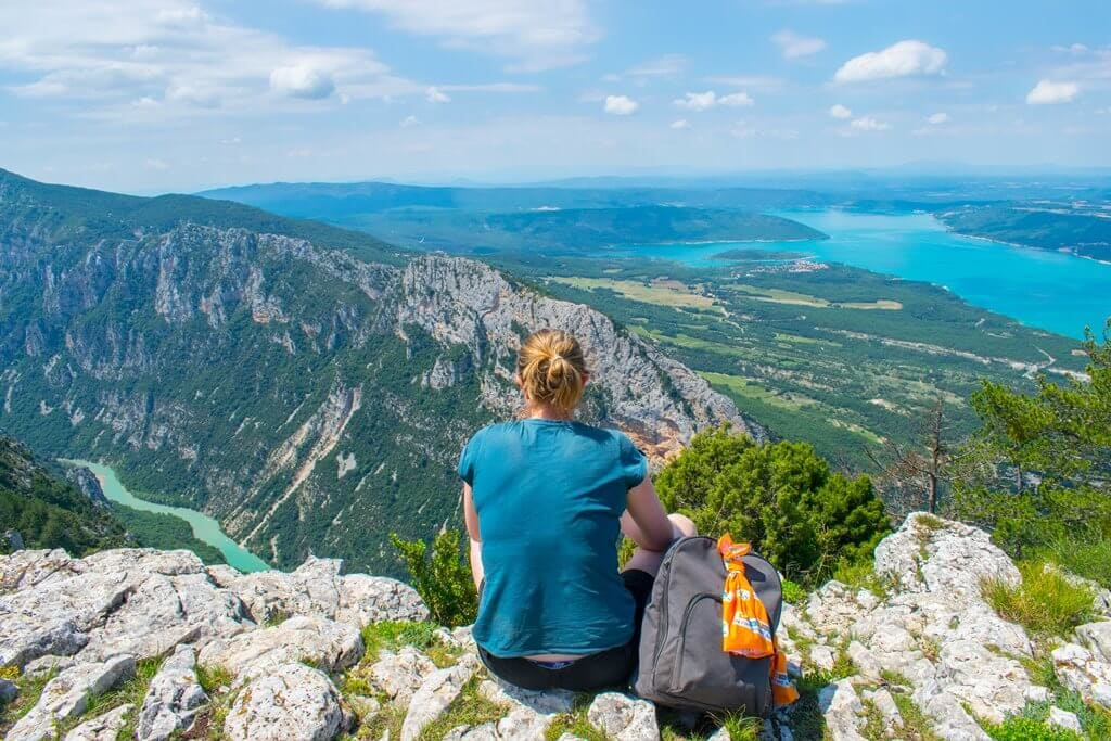 Looking out the best Viewing point in Verdon Gorge, France