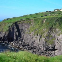 cliffs on the Kerry way