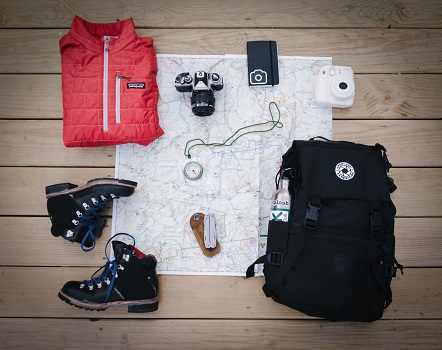 Packing for a hiking trip