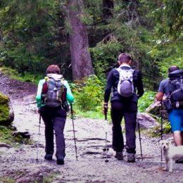 hikers on the Tour de Mont Blanc