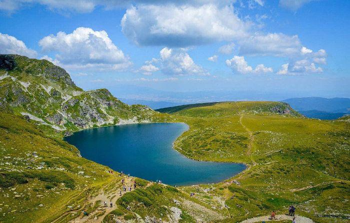Lake on the Rila and Pirin Mountains