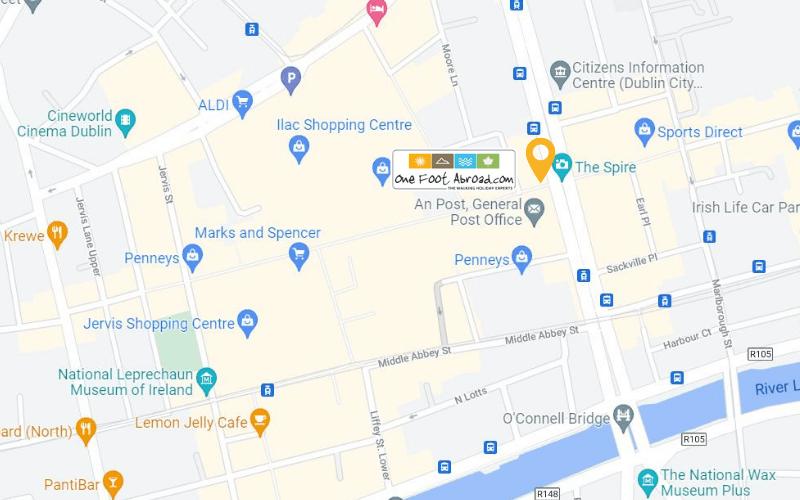 OFA Office Location Map O Connell street Dublin